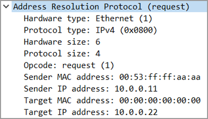 Pracnet.net - ARP Request - ARP Packet