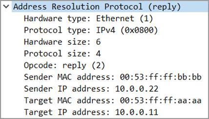 Pracnet.net - ARP Reply - ARP Packet